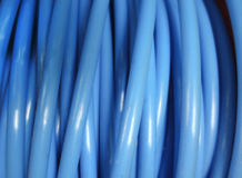 Electrical coiled cable royalty free stock photo