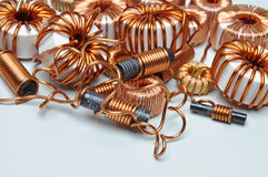 Electrical coils Royalty Free Stock Photos