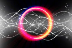 Electrical colorful glowing ring Stock Image