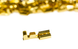 Electrical component bronze cable terminal connector Royalty Free Stock Photography