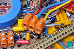 Electrical component kit. For use in electrical installations Royalty Free Stock Photo