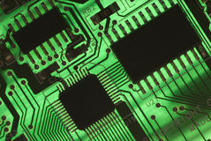 Electrical components. Computer card close-up stock image