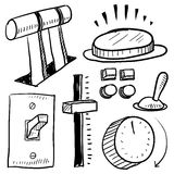 Electrical components and controls sketch Stock Photography
