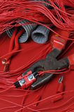 Electrical components and tools Royalty Free Stock Photography