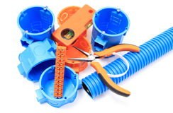 Electrical components for use in electrical installations Royalty Free Stock Images