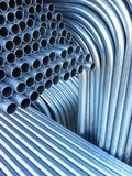 Electrical Conduit. That is bent and fabricated for installation on a construction site royalty free stock photography