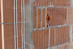 Electrical conduit royalty free stock photos