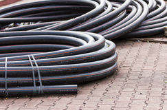 Electrical conduits Royalty Free Stock Photos