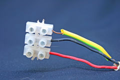 Electrical connection. Royalty Free Stock Photo