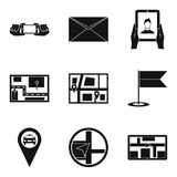 Electrical connection icons set, simple style. Electrical connection icons set. Simple set of 9 electrical connection vector icons for web isolated on white Stock Photo