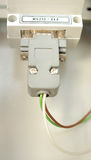 Electrical connector is connected to the commutators. Electrical connector with colored wires connected to the commutators stock photo