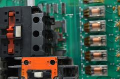 Electrical contactors and relays Royalty Free Stock Image