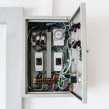 Electrical control box Stock Photo