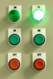 Electrical Control Cabinet. Signal power from the electrical control Stock Photography