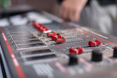 An electrical control device to control lighting equipment Royalty Free Stock Images