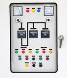 Electrical control panel board Royalty Free Stock Photo