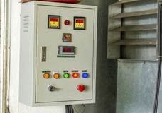 Electrical control panel board Stock Photo