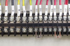 An electrical control panel for electricity Stock Photo