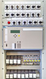 Electrical control panel with electronic devices in electrical substation Stock Photography