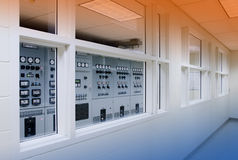 Electrical control room. Electrical control panels in special humidity controlled room Stock Photo