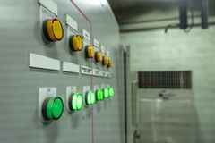 Electrical control room Circuit boards in industrial plants. In Asia royalty free stock photos