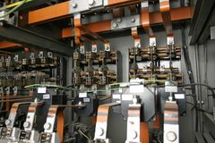 Electrical Control System In Factory Royalty Free Stock Photo
