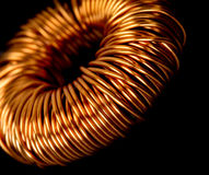 Electrical copper transformer Stock Image