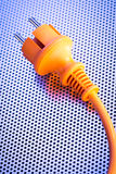 Electrical Cord with a Round Plug Royalty Free Stock Photo