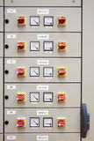 Electrical cubicle panel board. Motor control Royalty Free Stock Photography