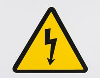 Electrical danger. Is a sign of danger for electrcity Royalty Free Stock Image