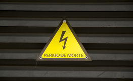 Electrical danger sign Stock Images