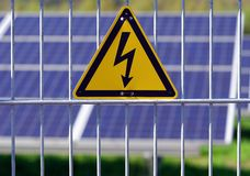 Electrical danger. Warning sign of electrical hazard Stock Photography