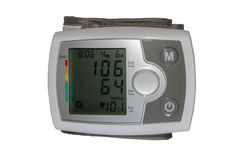 Electrical device for measuring blood pressure. And heart rate Royalty Free Stock Image