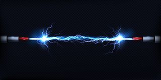 Free Electrical Discharge Between Power Cables Vector Royalty Free Stock Photos - 132116768