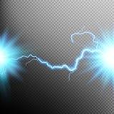 Electrical discharge. Lightning. EPS 10 Stock Image