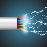 Electrical discharge. Stock illustration. Stock Image