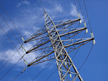 Electrical Distribution. Tower in an electrical distribution line stock photos