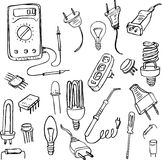 Electrical doodle set Stock Images