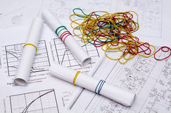 Electrical drawings Stock Photos