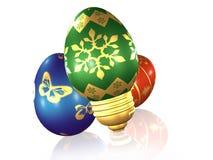 Electrical easter egg Stock Photos