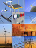Electrical energy stock image