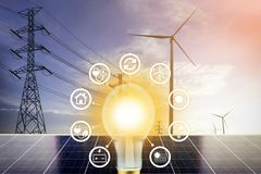 Electrical energy stock images
