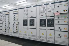 Electrical energy distribution substation Stock Photos