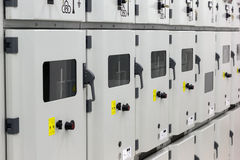 Electrical energy substation Royalty Free Stock Images