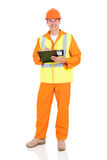 Electrical engineer clipboard royalty free stock photography