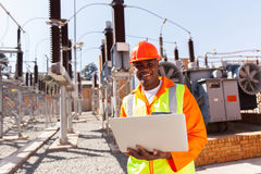 Electrical engineer computer Stock Photography