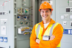 Electrical engineer standing stock image
