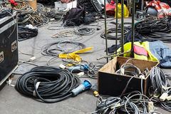Electrical equipment on city street royalty free stock photo