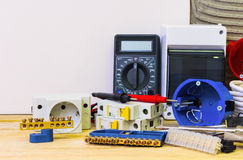 Electrical equipment, for repair of electric systems Stock Photo