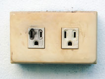 Electrical failure in power outlet Stock Photo